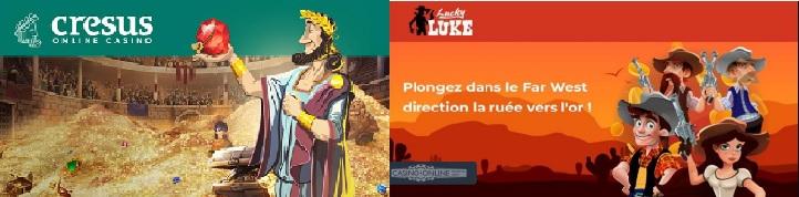 cresus vs lucky luke casino